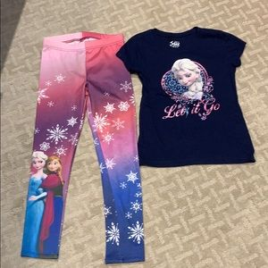 Other - Girl's Set of  leggings and T-shirt Size 7